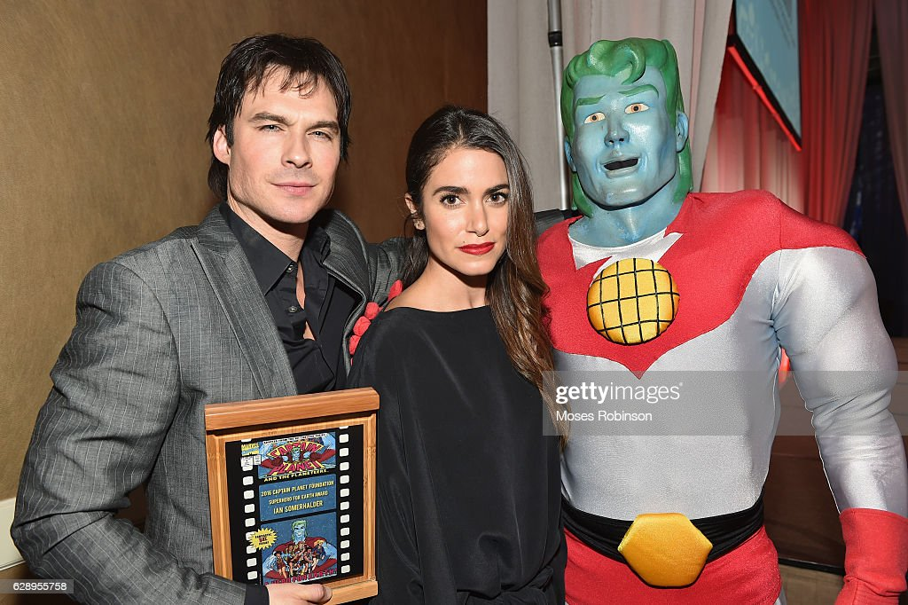 Actor Ian Somerhalder, actress Nikki Reed and Captain Planet attends the 25th annual Captain Planet Foundation Gala at Intercontinental Buckhead on December 9, 2016 in Atlanta, Georgia.