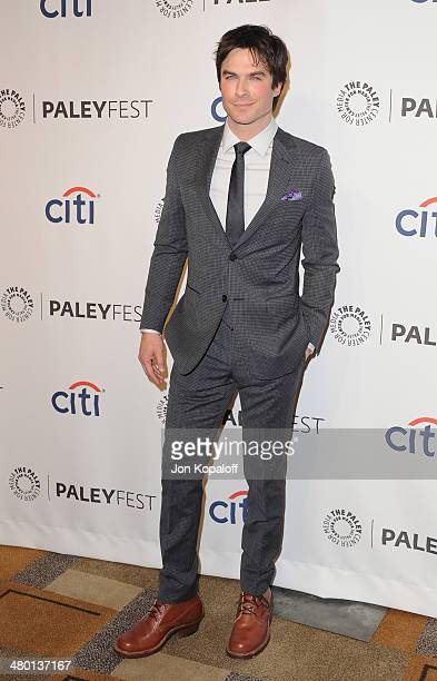 """Actor Ian Somerhalder arrives at the 2014 PaleyFest - """"The Vampire Diaries"""" & """"The Originals"""" on March 22, 2014 in Hollywood, California."""