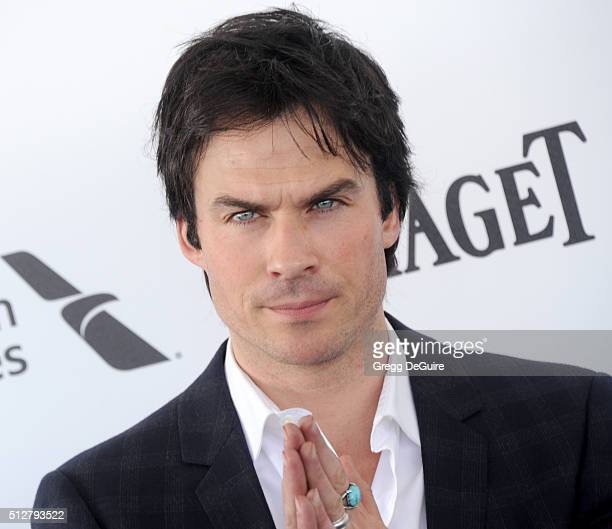 Actor Ian Somerhalder arrives at the 2016 Film Independent Spirit Awards on February 27 2016 in Santa Monica California