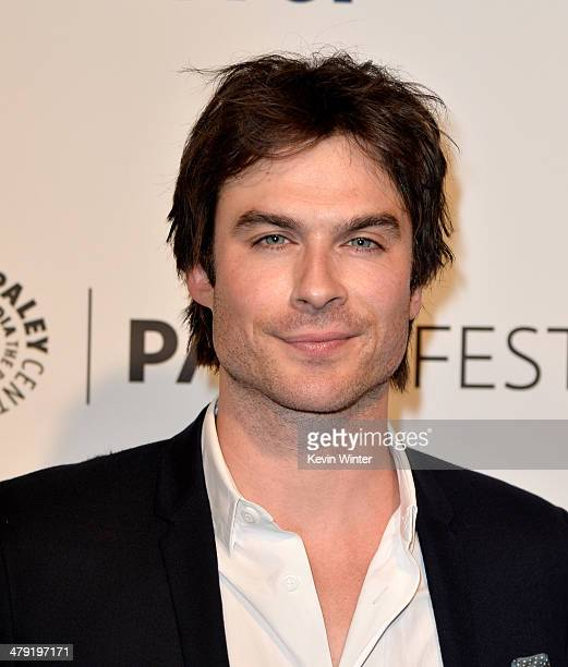 """Actor Ian Somerhalder arrives at The Paley Center Media's PaleyFest 2014 Honoring """"Lost"""" 10th Anniversary Reunion at the Dolby Theatre on March 16,..."""