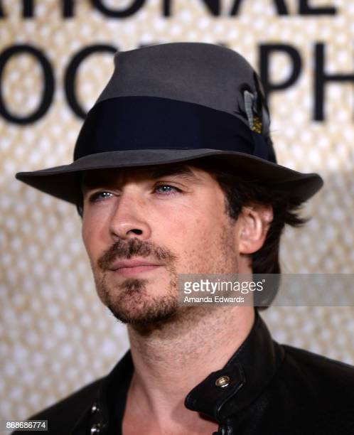 Actor Ian Somerhalder arrives at the premiere of National Geographic's 'The Long Road Home' at Royce Hall on October 30 2017 in Los Angeles California