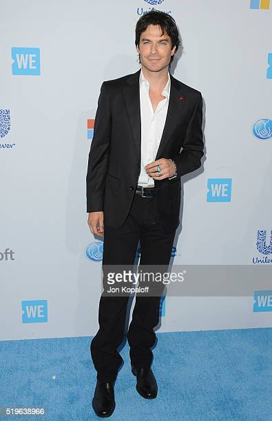 Actor Ian Somerhalder arrives at WE Day California at The Forum on April 7 2016 in Inglewood California
