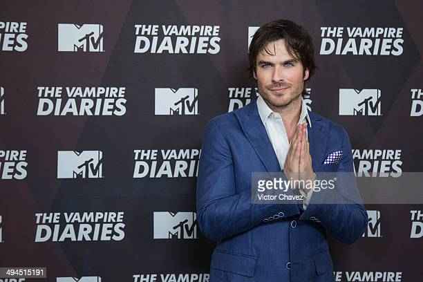 Actor Ian Somerhalder attends a press conference and photo call to promote the tv series The Vampire Diaries at Four Seasons hotel on May 29 2014 in...