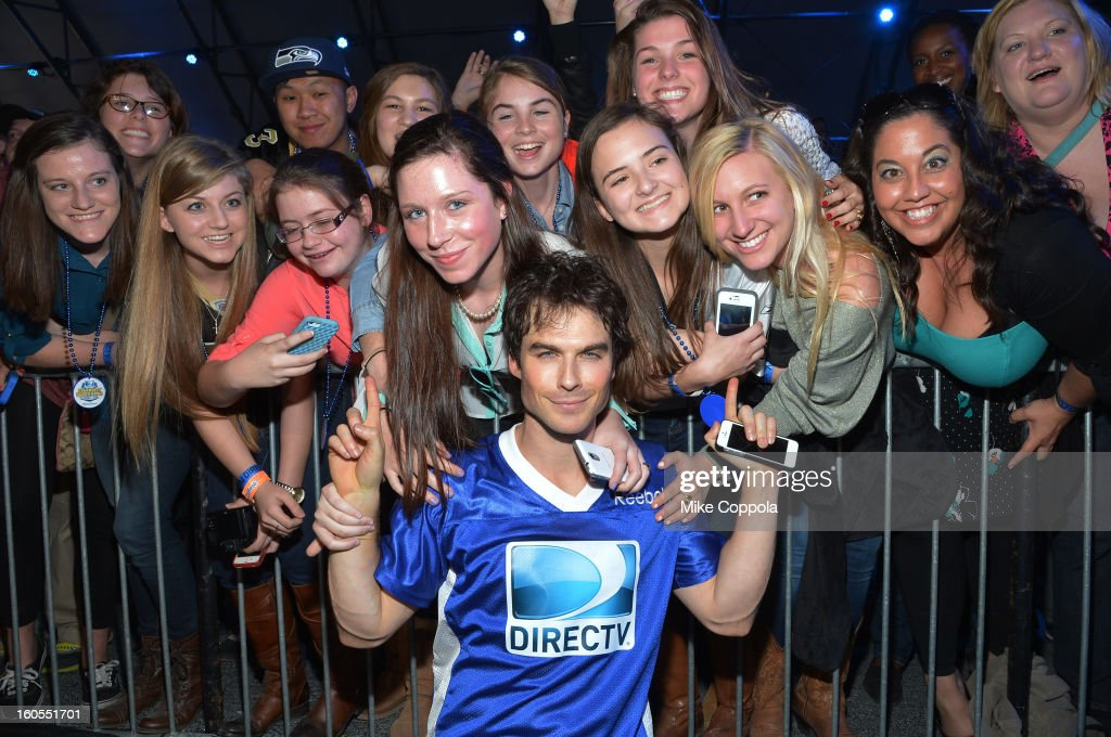 Actor Ian Somerhalder attends DIRECTV'S Seventh Annual Celebrity Beach Bowl at DTV SuperFan Stadium at Mardi Gras World on February 2, 2013 in New Orleans, Louisiana.