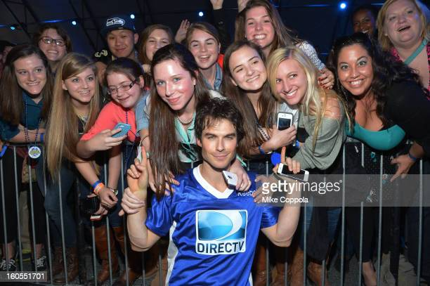 Actor Ian Somerhalder attends DIRECTV'S Seventh Annual Celebrity Beach Bowl at DTV SuperFan Stadium at Mardi Gras World on February 2 2013 in New...
