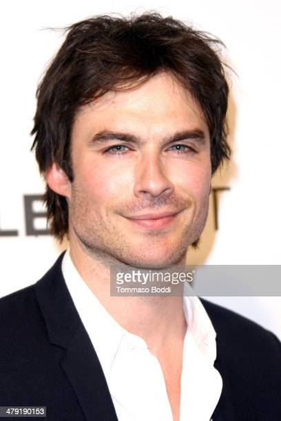 Actor Ian Somerhalder attends the 2014 PaleyFest 'Lost' 10th anniversary reunion held at the Dolby Theatre on March 16 2014 in Hollywood California
