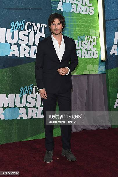 Actor Ian Somerhalder attends the 2015 CMT Music awards at the Bridgestone Arena on June 10 2015 in Nashville Tennessee