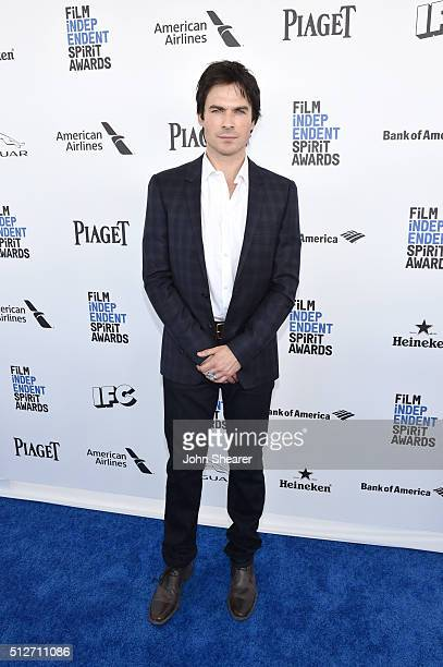 Actor Ian Somerhalder attends the 2016 Film Independent Spirit Awards on February 27 2016 in Santa Monica California