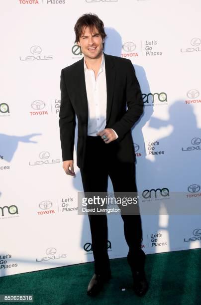 Actor Ian Somerhalder attends the 27th Annual EMA Awards at Barker Hangar on September 23 2017 in Santa Monica California