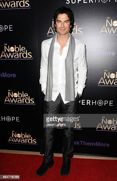 Actor Ian Somerhalder attends the 3rd annual Noble Awards at The Beverly Hilton Hotel on February 27 2015 in Beverly Hills California