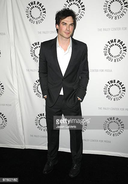Actor Ian Somerhalder attends The Vampire Diaries event at the 27th annual PaleyFest at Saban Theatre on March 6 2010 in Beverly Hills California