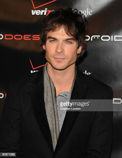 Actor Ian Somerhalder attends the Verizon Wireless DROID Launch at The Angel Orensanz Foundation on November 6 2009 in New York City