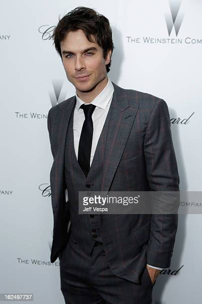 Actor Ian Somerhalder attends The Weinstein Company Academy Award Party hosted by Chopard at Soho House on February 23 2013 in West Hollywood...