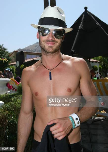 Actor Ian Somerhalder during The Live Party at the Viceroy on April 26 2008 in Palm Springs California