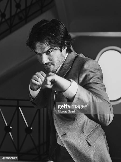Actor Ian Somerhalder is photographed on May 21 2015 in Cannes France