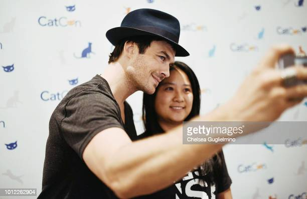 Actor Ian Somerhalder meets with fans at CatCon Worldwide 2018 at Pasadena Convention Center on August 5 2018 in Pasadena California