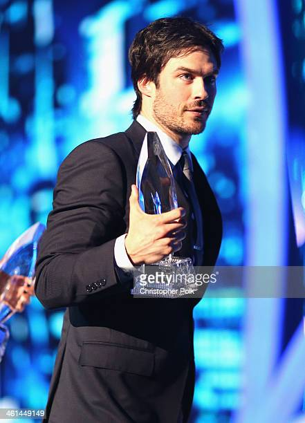 Actor Ian Somerhalder onstage at The 40th Annual People's Choice Awards at Nokia Theatre LA Live on January 8 2014 in Los Angeles California
