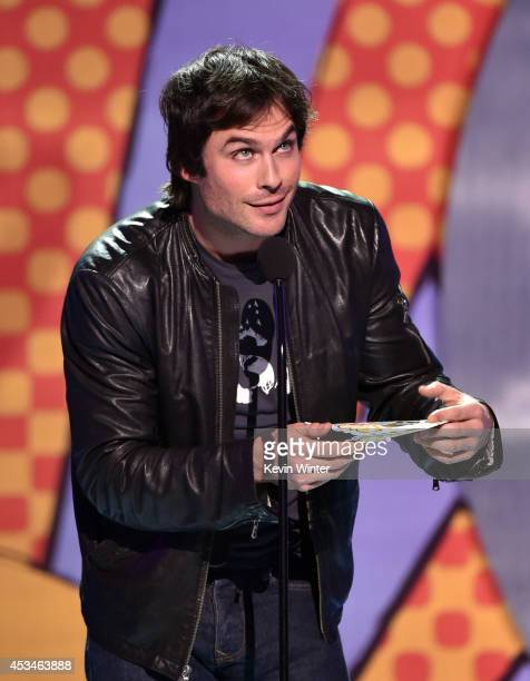 Actor Ian Somerhalder onstage during FOX's 2014 Teen Choice Awards at The Shrine Auditorium on August 10 2014 in Los Angeles California