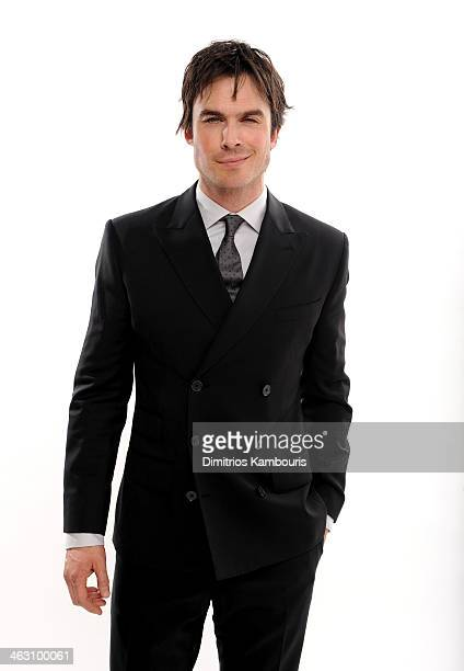 Actor Ian Somerhalder poses for a portrait during the 19th Annual Critics' Choice Movie Awards at Barker Hangar on January 16 2014 in Santa Monica...