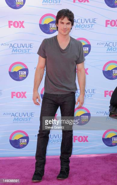Actor Ian Somerholder arrives at the 2012 Teen Choice Awards at Gibson Amphitheatre on July 22 2012 in Universal City California