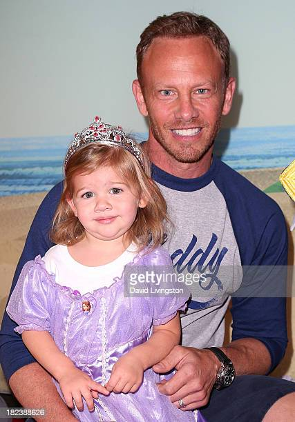 Actor Ian Ziering and daughter Mia Loren Ziering attend the Disney Junior Live on Tour Pirate Princess Adventure at the Dolby Theatre on September 29...