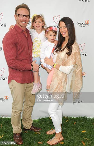 Actor Ian Ziering and daughters Mia Loren and Penna Mae and wife Erin Ziering attend Alliance Of Moms Giant Playdate on May 9 2015 in Los Angeles...