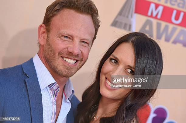 Actor Ian Ziering and Erin Kristine Ludwig arrive at the 2015 iHeartRadio Music Awards at The Shrine Auditorium on March 29 2015 in Los Angeles...
