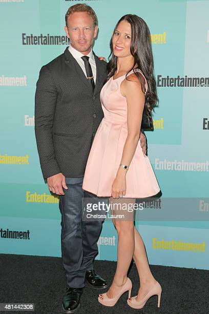 Actor Ian Ziering and Erin Kristine Ludwig arrive at the Entertainment Weekly celebration at Float at Hard Rock Hotel San Diego on July 11 2015 in...