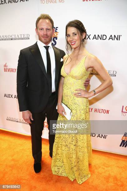 Actor Ian Ziering and Erin Kristine Ludwig attend the 24th Annual Race To Erase MS Gala at The Beverly Hilton Hotel on May 5 2017 in Beverly Hills...