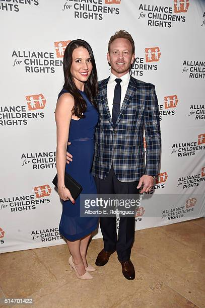 Actor Ian Ziering and Erin Kristine Ludwig attend the Alliance for Children's Rights' 24th annual dinner at The Beverly Hilton Hotel on March 10 2016...
