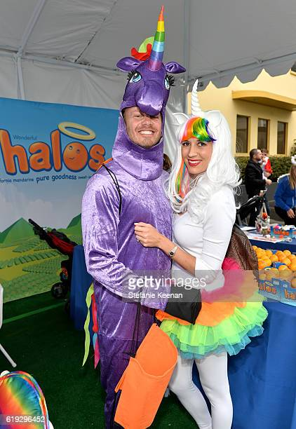 Actor Ian Ziering and Erin Kristine Ludwig attend the FirstEver GOOD Foundation Halloween Bash hosted Jessica Seinfeld at Sunset Gower Studios on...