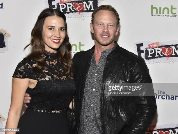Actor Ian Ziering and Erin Kristine Ludwig attend the premiere of The Orchard and Fine Brothers Entertainment's F*% The Prom at ArcLight Hollywood on...