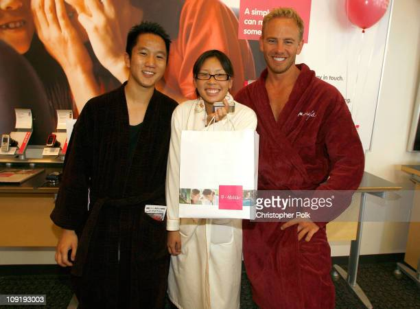 Actor Ian Ziering and guests attend the launch of the new TMobile @Home on July 3 2007 in Los Angeles California