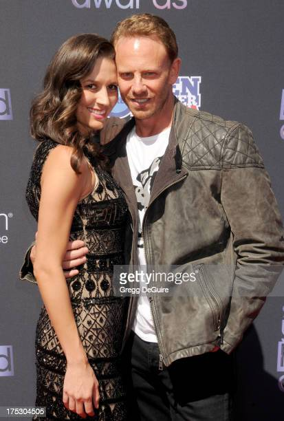 Actor Ian Ziering and his wife Erin Ludwig arrive at the 15th Annual Young Hollywood Awards at The Broad Stage on August 1 2013 in Santa Monica...