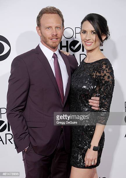 Actor Ian Ziering and wife Erin Kristine Ludwig arrive at the 40th Annual People's Choice Awards at Nokia Theatre LA Live on January 8 2014 in Los...