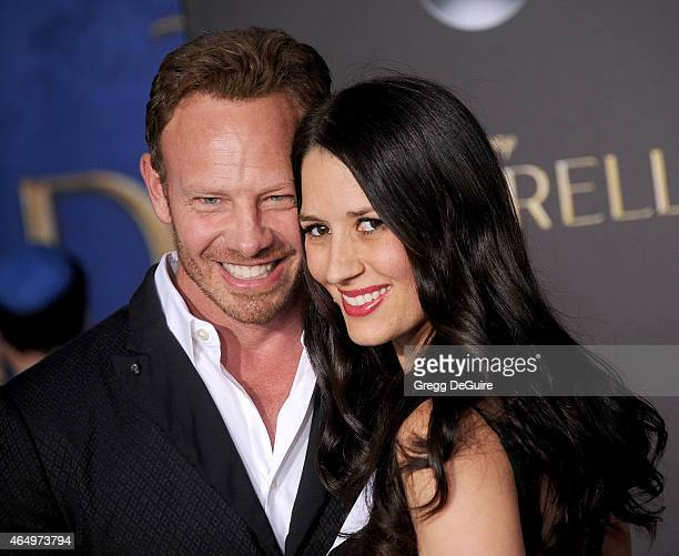 Actor Ian Ziering and wife Erin Kristine Ludwig arrive at the World Premiere of Disney's Cinderella at the El Capitan Theatre on March 1 2015 in...