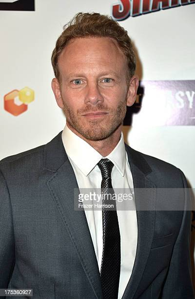 """Actor Ian Ziering arrives at Fathom Events Presents The Premiere Of The Asylum And Syfy's """"Sharknado"""" at Regal Cinemas L.A. Live on August 2, 2013 in..."""