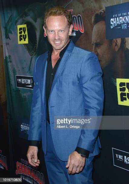 Actor Ian Ziering arrives for the premiere of The Asylum and Syfy's The Last Sharknado It's About Time held at Cinemark Playa Vista on August 19 2018...