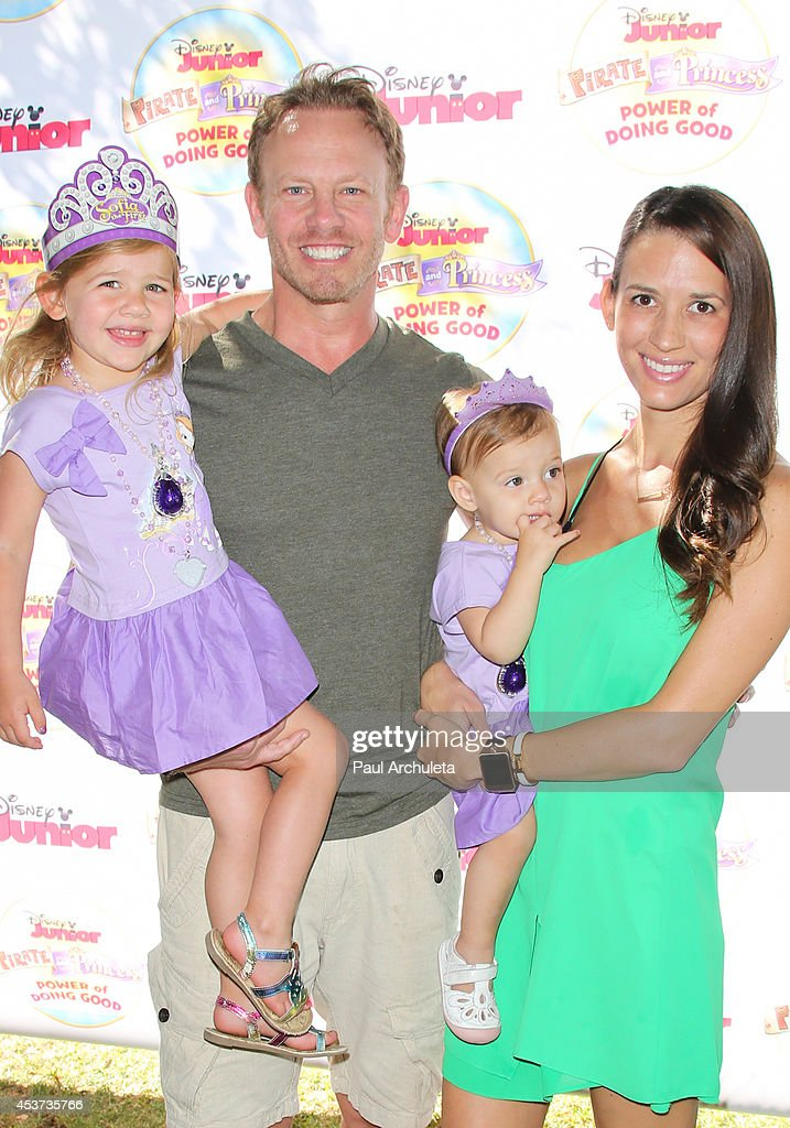 Actor Ian Ziering attends Disney Junior's 'Pirate And Princess: Power Of Doing Good' tour at Brookside Park on August 16, 2014 in Pasadena, California.