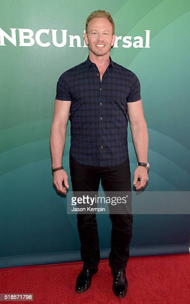 Actor Ian Ziering attends the 2016 NBCUniversal Summer Press Day at Four Seasons Hotel Westlake Village on April 1 2016 in Westlake Village California