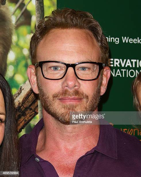 Actor Ian Ziering attends the premiere of Monkey Kingdom at the Pacific Theaters at the Grove on April 12 2015 in Los Angeles California