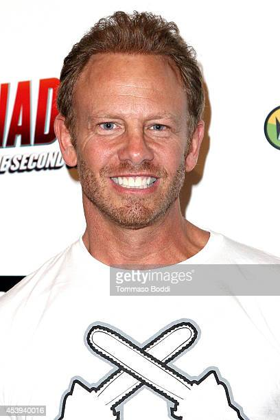 Actor Ian Ziering attends the 'Sharknado 2 The Second One' Los Angeles premiere held at LA Live on August 21 2014 in Los Angeles California