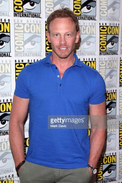 Actor Ian Ziering attends the Sharknado The Second One press line during ComicCon International 2014 at Hilton Bayfront on July 24 2014 in San Diego...