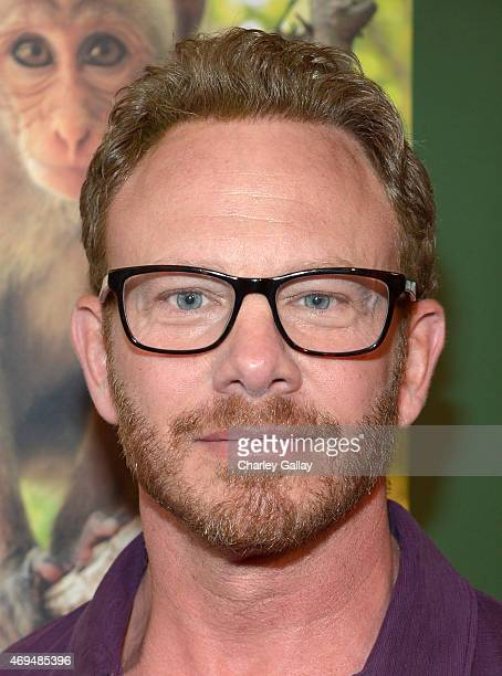 Actor Ian Ziering attends the world premiere Of Disney's Monkey Kingdom at Pacific Theatres at The Grove on April 12 2015 in Los Angeles California