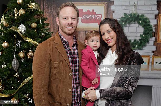Actor Ian Ziering daugher Mia Ziering and wife Erin Ziering attend the 2nd Annual Santa's Secret Workshop Benefiting LA Family Housing at Andaz on...