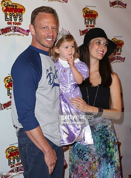 Actor Ian Ziering daughter Mia Loren Ziering and wife Erin Kristine Ludwig attend the Disney Junior Live on Tour Pirate Princess Adventure at the...