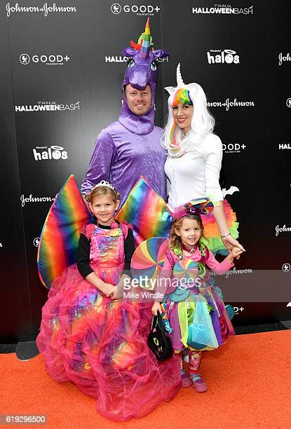 Actor Ian Ziering Erin Kristine Ludwig and family attend the FirstEver GOOD Foundation Halloween Bash hosted Jessica Seinfeld at Sunset Gower Studios...