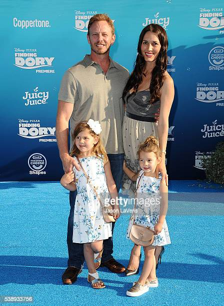 Actor Ian Ziering wife Erin Kristine Ludwig and children attend the premiere of Finding Dory at the El Capitan Theatre on June 8 2016 in Hollywood...