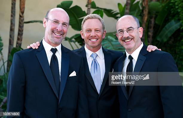 **EXCLUSIVE** Actor Ian Ziering with brothers Jeff Ziering and Barry Ziering pose during Beverly Hills 90210Õs Ian Ziering and Erin Ludwig's wedding...