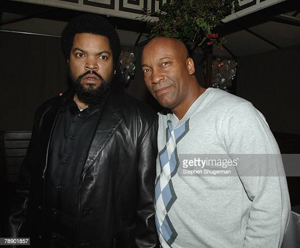 Actor Ice Cube and director John Singleton attend the after party at the Cabana Club following the world premiere of Screen Gems First Sunday on...